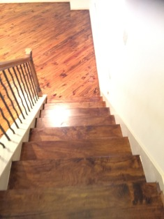 New steps and risers wood flooring installed in San Antonio Texas
