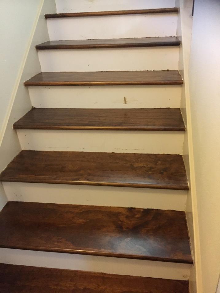Wood floors wood steps and risers installed in San Antonio Texas